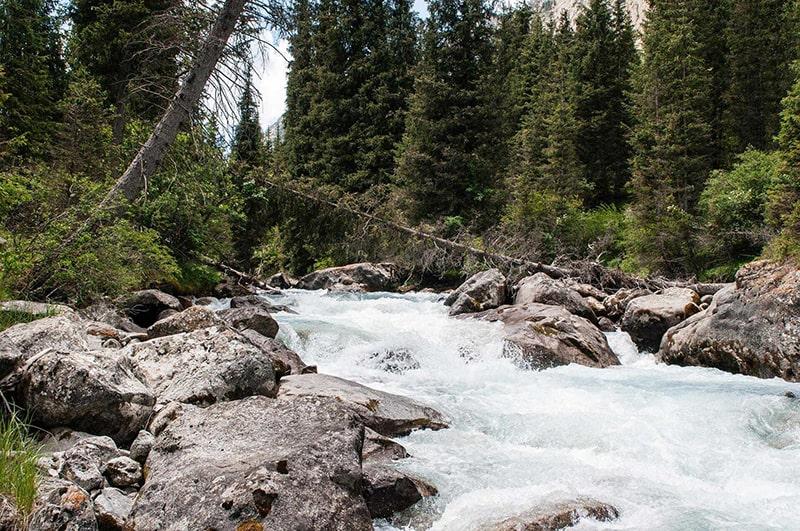 Chon kemin river Kyrgyzstan asia